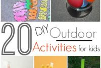Diy Activities for Kids Unique 20 Diy Outdoor Activities for Kids