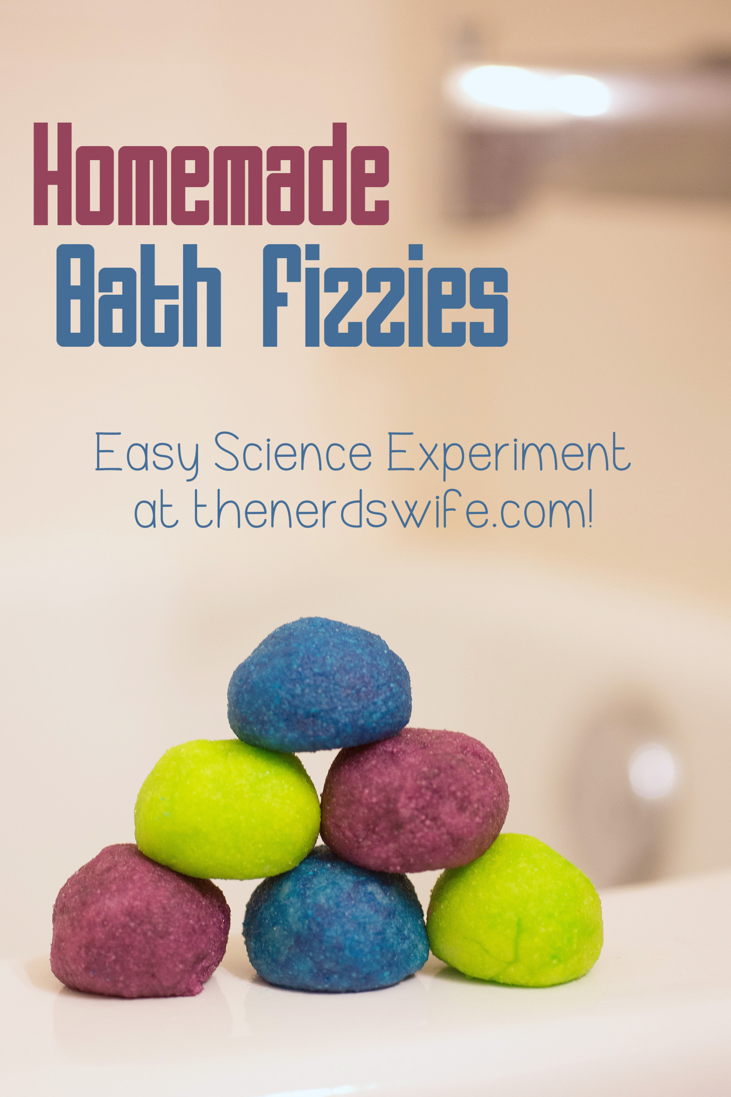 DIY Bath Bombs For Kids  Homemade Bath Fizzies Science Experiment with Netflix