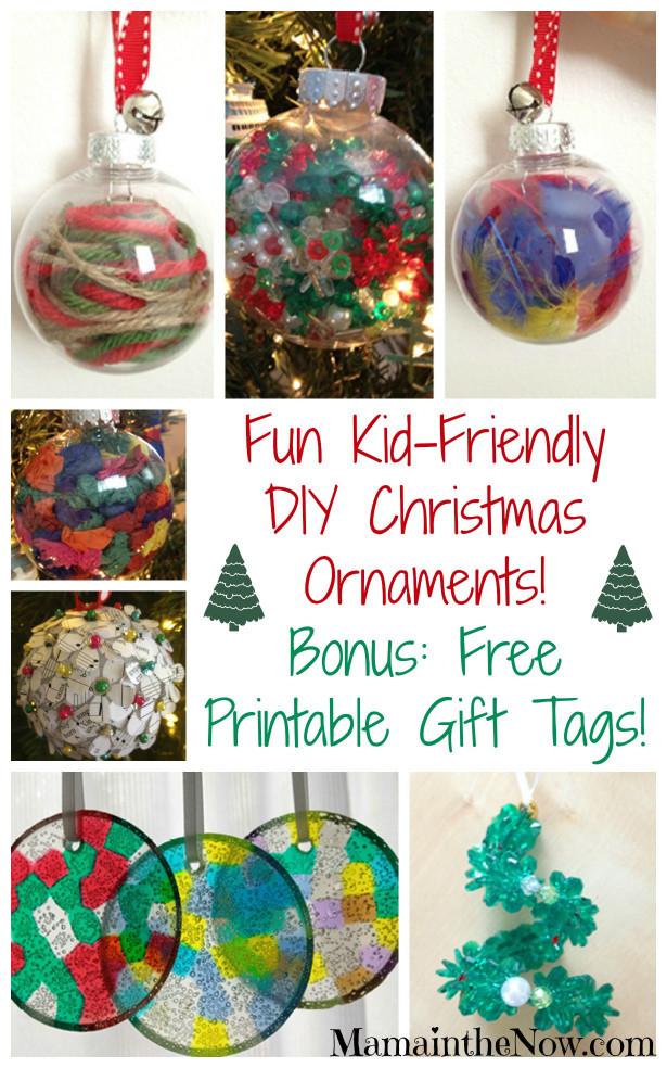 DIY Christmas Ornaments For Kids  Easy Kid Friendly DIY Christmas Ornaments
