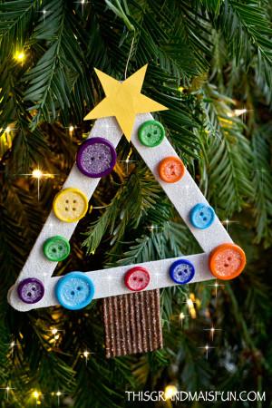 DIY Christmas Ornaments For Kids  DIY Kids Craft Stick Christmas Tree Ornament TGIF This