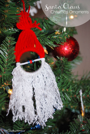 DIY Christmas Ornaments For Kids  Homemade Christmas Ornaments for Kids Santa