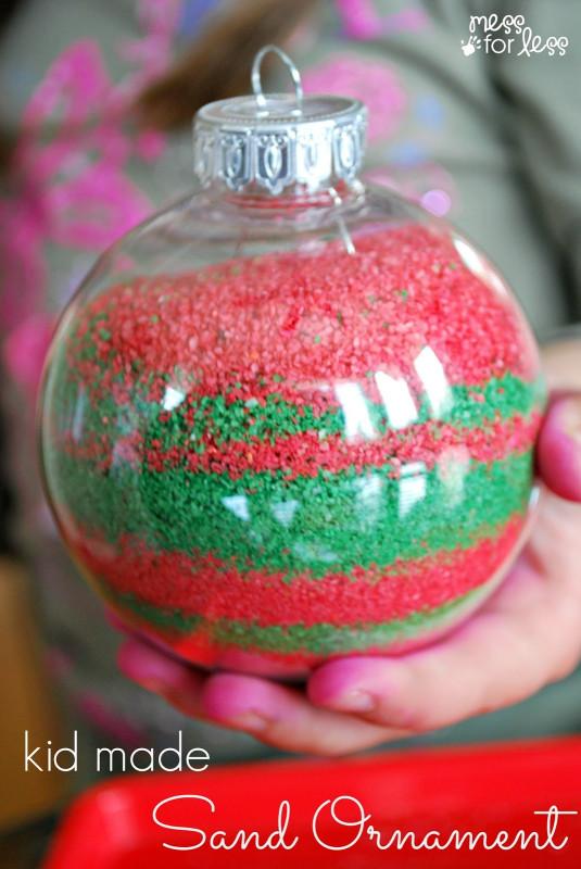 DIY Christmas Ornaments For Kids  Kids Homemade Christmas Ornaments Mess for Less