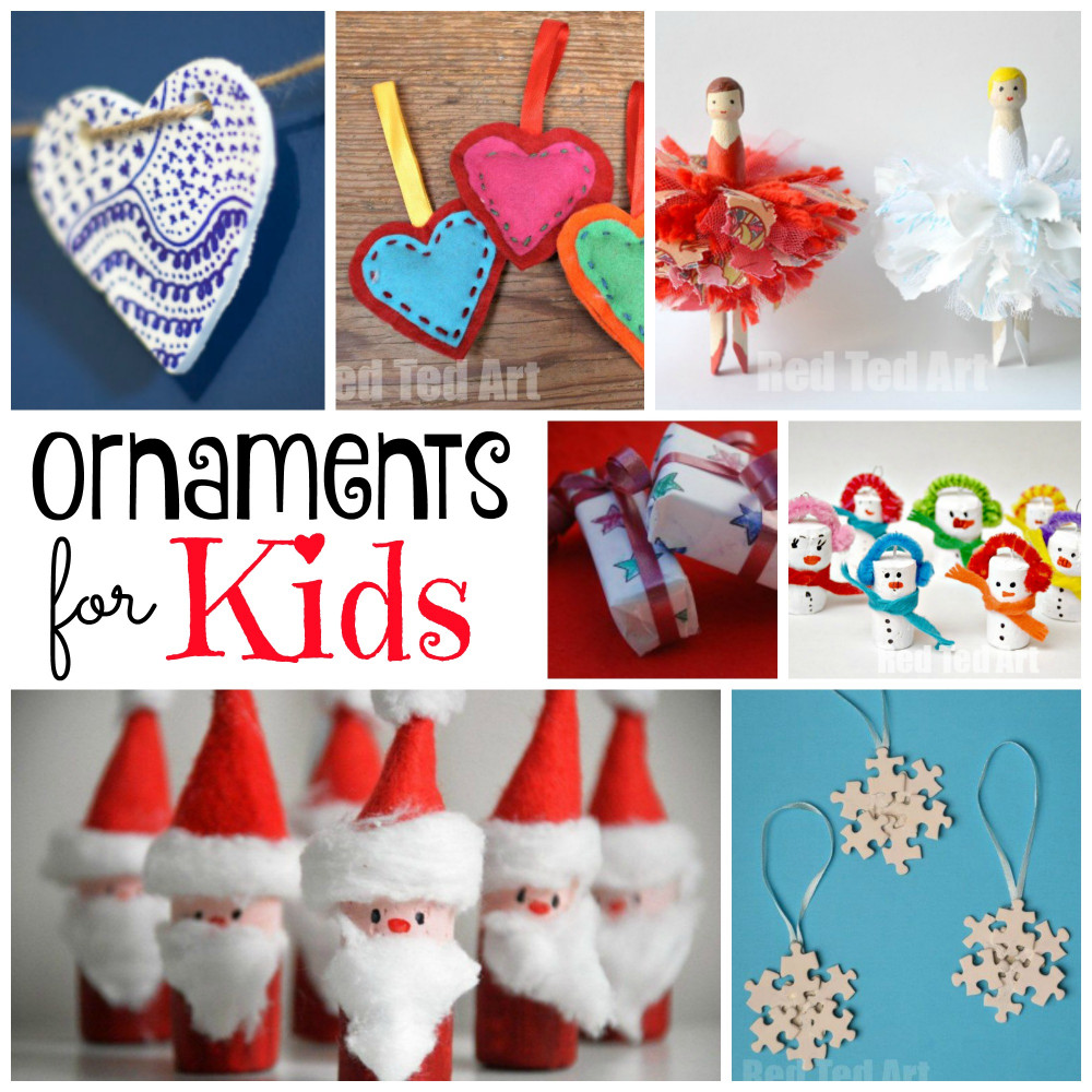DIY Christmas Ornaments For Kids  DIY Christmas Ornaments Red Ted Art s Blog