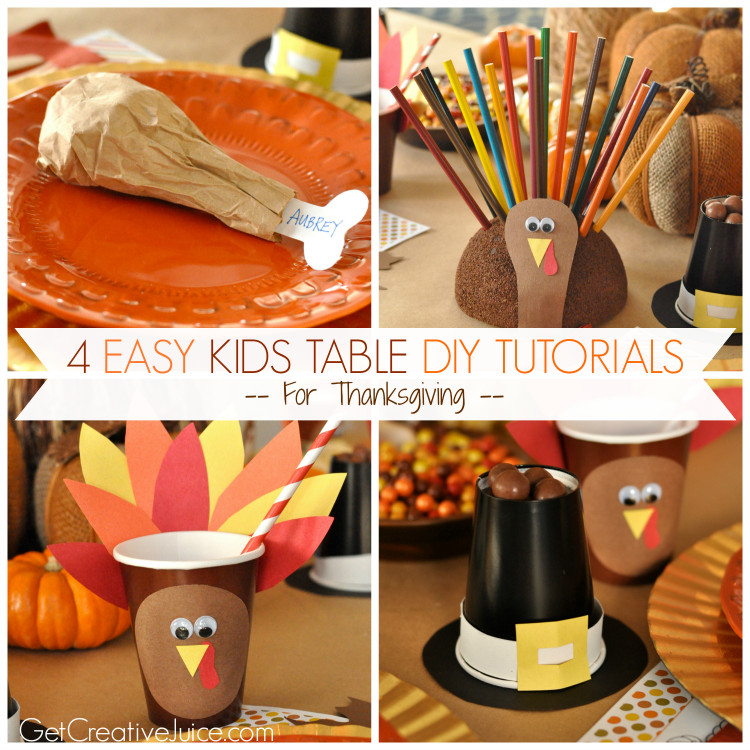 DIY Ideas For Kids  4 Easy Kids Thanksgiving Table Craft tutorials Creative