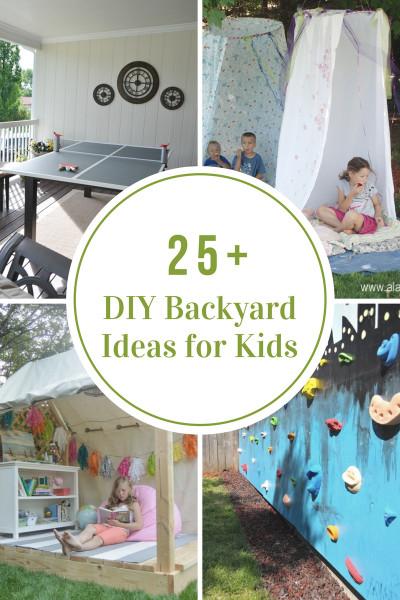 DIY Ideas For Kids  DIY Backyard Ideas for Kids The Idea Room