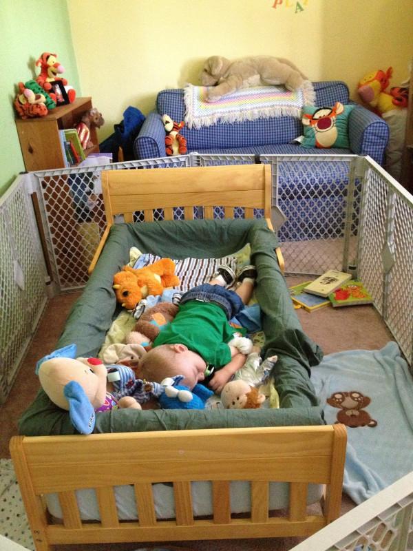 DIY Kids Bed  Mama Frankenstein DIY Toddler Bed Bumper Tutorial