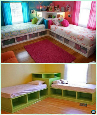 DIY Kids Bed  DIY Kids Bunk Bed Free Plans [Picture Instructions]