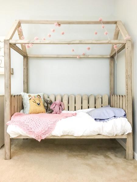 DIY Kids Bed  DIY Toddler House Bed
