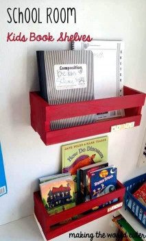 DIY Kids Book Shelf  Diy Kids Book Shelf Wall Book Display Ideas At B Inspired