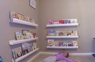 DIY Kids Book Shelf  DIY SHELF IDEAS 📚