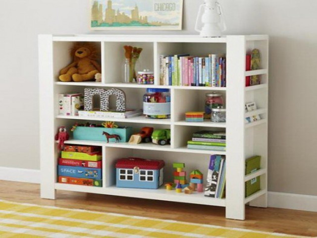 DIY Kids Bookshelf  Bookcases for toddlers diy toy storage ideas kids
