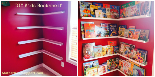 DIY Kids Bookshelf  Kids Playroom Design Ideas & Storage Tips Motherhood