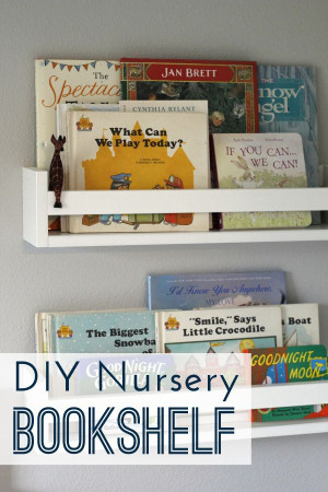 DIY Kids Bookshelf  DIY Nursery Bookshelves A Crafted Passion