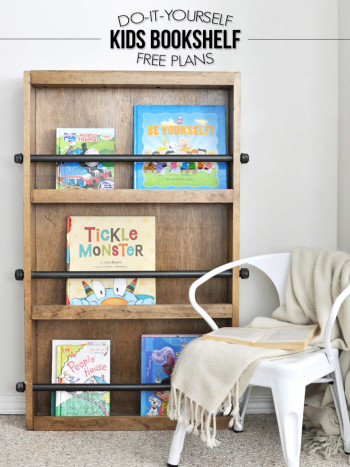 DIY Kids Bookshelf  DIY Salvaged Junk Projects 361 with tipsFunky Junk Interiors