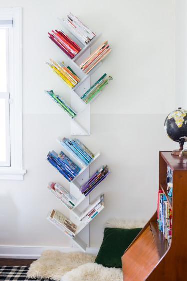 DIY Kids Bookshelf  Tree Bookshelf DIY for a Beautiful Minimal and d