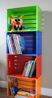 DIY Kids Bookshelf  40 Easy DIY Bookshelf Plans