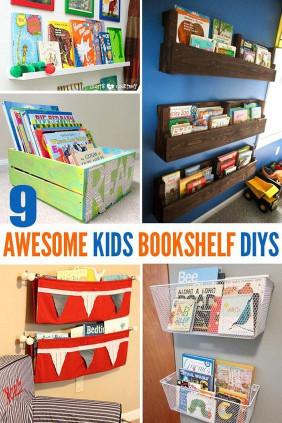 DIY Kids Bookshelves  9 Awesome DIY Kids Bookshelves