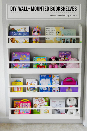 DIY Kids Bookshelves  DIY Wall Mounted Bookshelves created by v