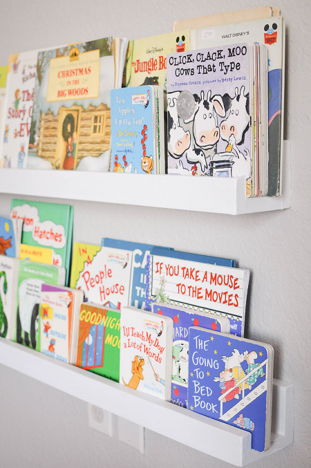 DIY Kids Bookshelves  DIY Wall Mounted Kid s Bookshelves Our Handcrafted Life