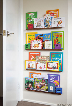 DIY Kids Bookshelves  Clever DIY Ideas to Organize Books for Your Kids Noted List