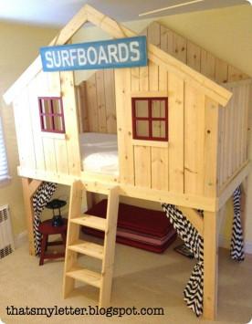 DIY Kids Loft Bed  Woodwork Diy Kids Beds Plans PDF Plans