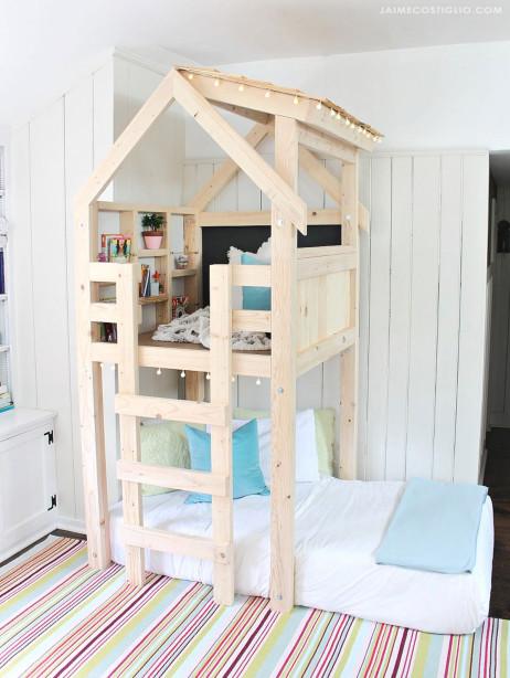 DIY Kids Loft Bed  DIY Over Bed Kids Loft Jaime Costiglio