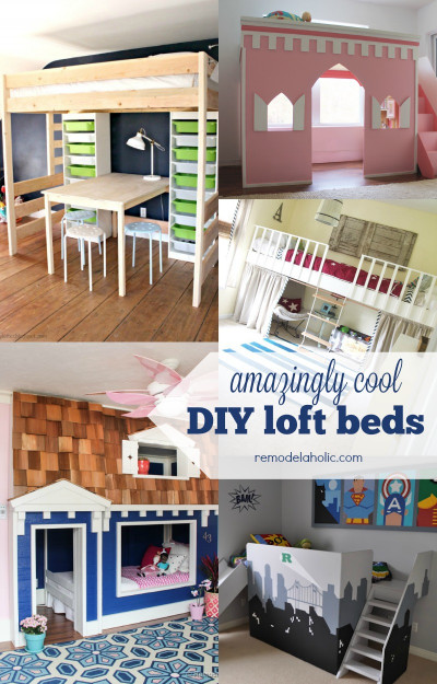 DIY Kids Loft Bed  Remodelaholic
