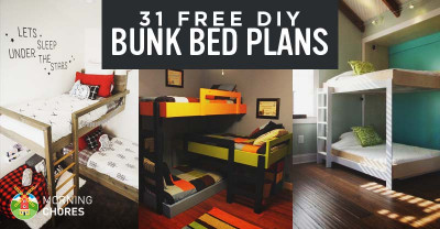 DIY Kids Loft Bed  31 DIY Bunk Bed Plans & Ideas that Will Save a Lot of