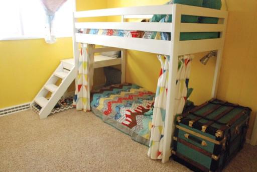 DIY Kids Loft Bed  DIY Kids Loft Bunk Bed with Stairs