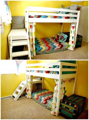 DIY Kids Loft Bed  22 Low Bud DIY Bunk Bed Plans to Upgrade Your Kids Room