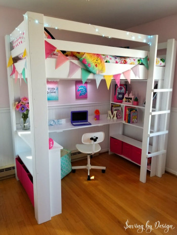 DIY Kids Loft Bed  How to Build a Loft Bed with Desk and Storage