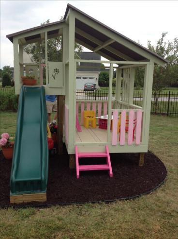 DIY Kids Playhouse  Diy playhouse gardening Pinterest