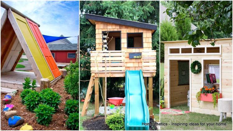 DIY Kids Playhouse  43 Free DIY Playhouse Plans That Children & Parents Alike