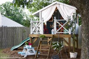 DIY Kids Playhouse  Children s playhouse in the garden or backyard 2
