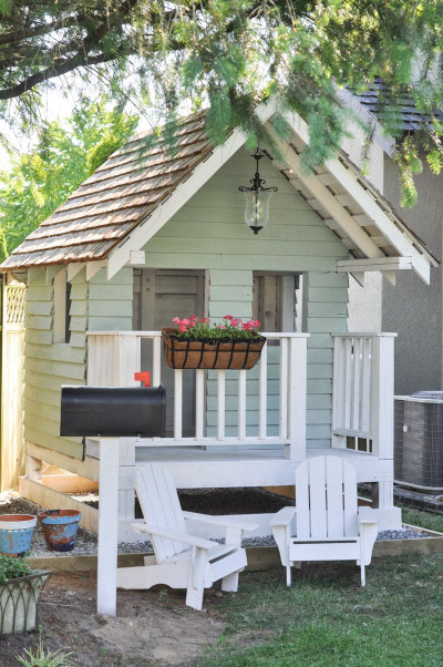 DIY Kids Playhouse  The Playhouse Project Part Deux Outdoor Accessories