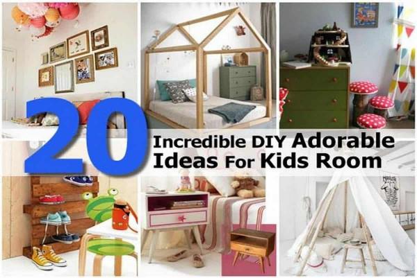DIY Kids Room  20 Incredible DIY Adorable Ideas For Kids Room