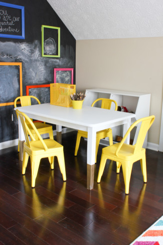 DIY Kids Table  DIY Kids Art Table Erin Spain