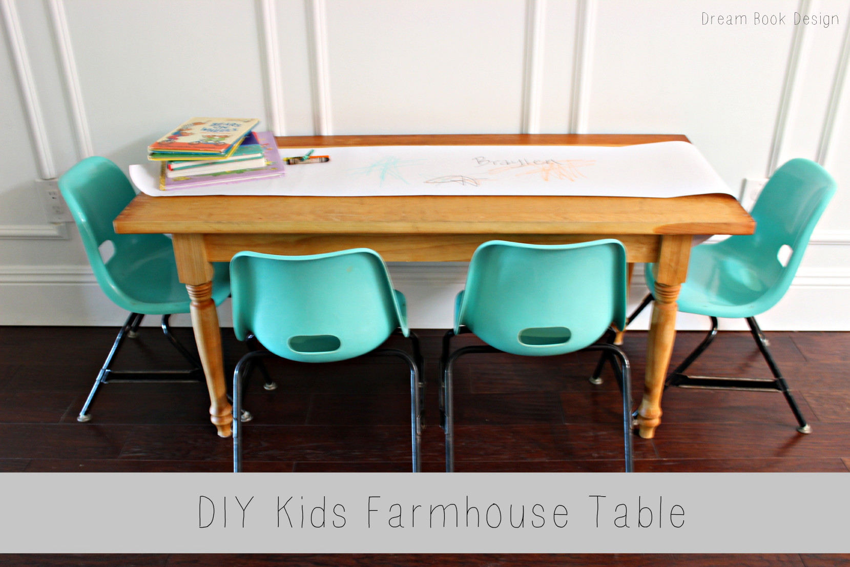 DIY Kids Table  DIY Kids Farmhouse Table Dream Book Design