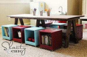 DIY Kids Table  Playroom Kids Table DIY Shanty 2 Chic