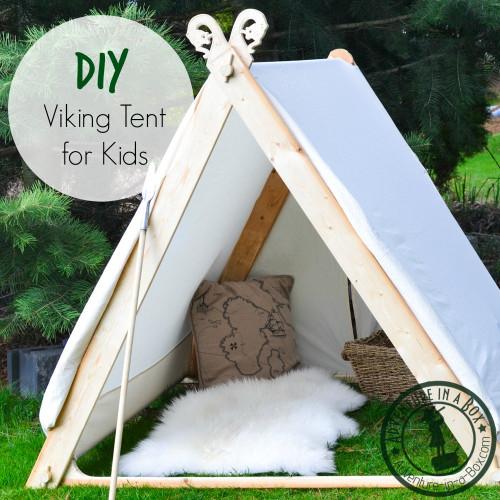 DIY Kids Tent  How to Make a Viking Backyard Play Tent
