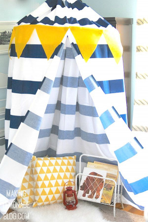 DIY Kids Tent  Make a DIY No Sew Kids' Play Canopy Tent… in an hour