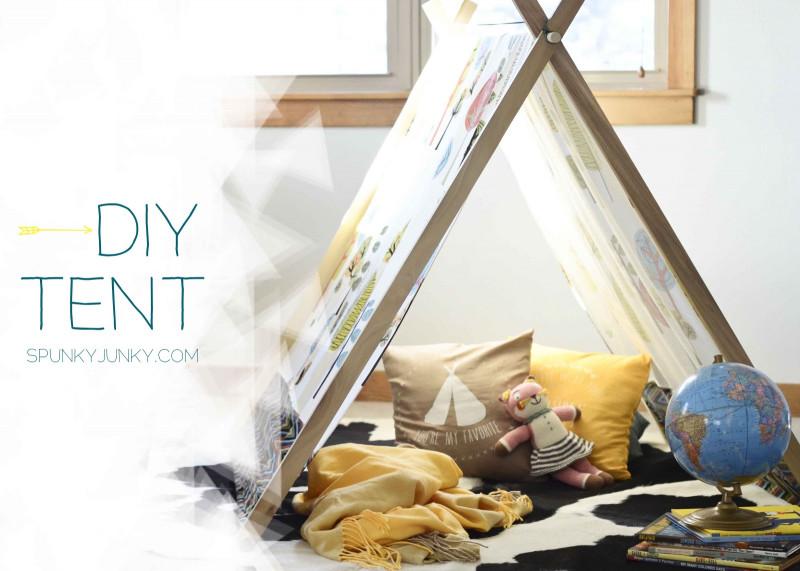 DIY Kids Tent  Spunky Junky DIY Tent