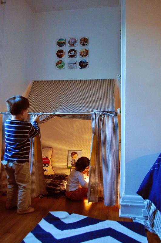 DIY Kids Tent  Ducklings In A Row Hair DIY Tutorials Indoor Tent How To