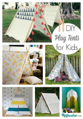 DIY Kids Tent  11 Easy DIY Play Tents for Kids – Tip Junkie