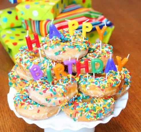 Donut Birthday Cake  Donut Birthday Cake