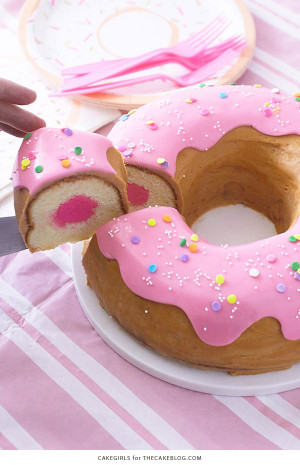 Donut Birthday Cake  Giant Donut Cake