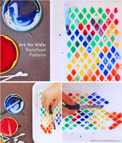 Easy Activities For Kids  Art Activities for Kids Styrofoam Patterns