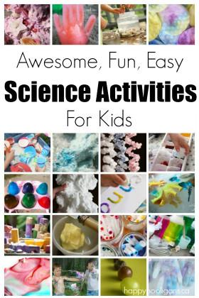 Easy Activities For Kids  Science Activities for Kids Happy Hooligans