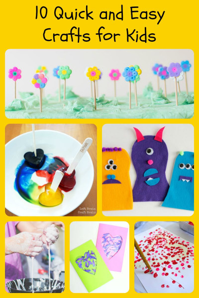 Easy Activities For Kids  10 Quick and Easy Crafts for Kids 5 Minutes for Mom