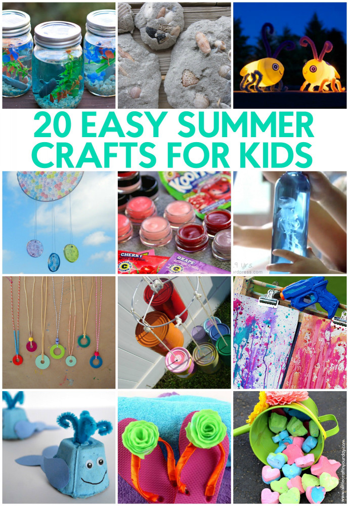 Easy Activities For Kids  20 Easy Summer Crafts for Kids A Little Craft In Your Day